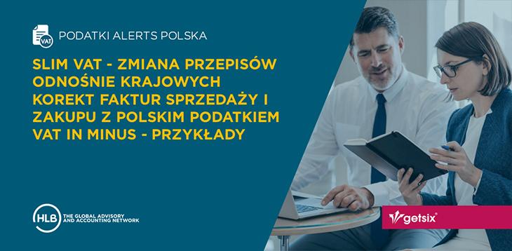 SLIM VAT - Zmiana przepisów odnośnie krajowych korekt faktur sprzedaży i zakupu z polskim podatkiem VAT in minus - przykłady