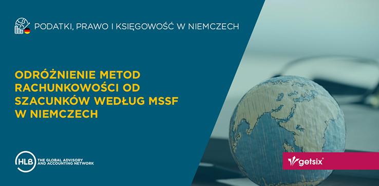 Odróżnienie metod rachunkowości od szacunków według MSSF w Niemczech