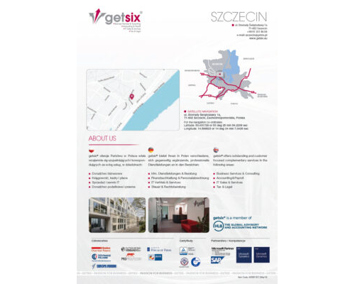 Map of Accounting Office Szczecin